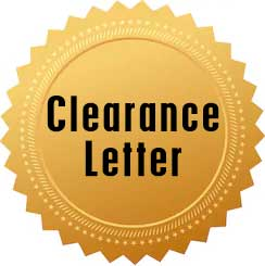 This Company has a Clearence Letter